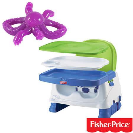 費雪牌 Fisher-Price寶寶小餐椅+幼兒學習軟性章魚牙刷(可當固齒器使用)