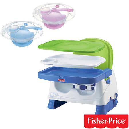 費雪牌 Fisher-Price寶寶小餐椅+酷咕鴨KU.KU. 寶寶止翻吸盤碗