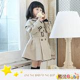 魔法Baby ~女童歐風時尚風衣~時尚設計童裝~k24609