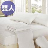 【CERES】☆台灣精製☆北歐風純白床包式保潔墊-雙人(B0555-M)