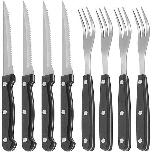 《KitchenCraft》鋸齒牛排刀叉8件組