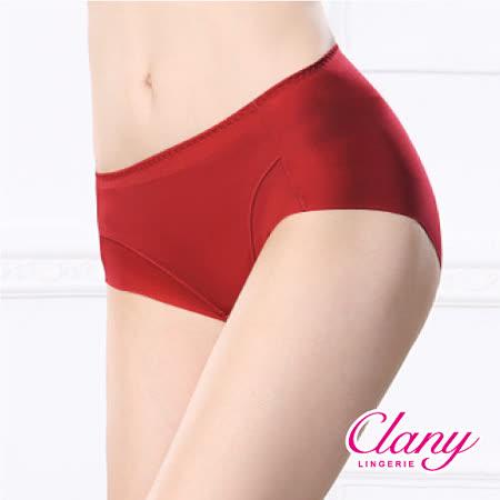 【可蘭霓Clany】健康抑菌竹炭中腰M-XL無痕內褲(熱情紅 2156-96)