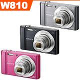 SONY DSC-W810數位相機(公司貨)-加送16G高速卡+第二顆原廠電池+原廠座充+原廠相機包+4好禮