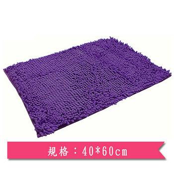 長毛速乾吸水踏墊-紫(40*60)
