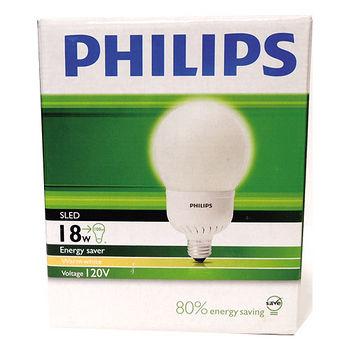 飛利浦 電子式球型省電燈泡-黃光(18W)