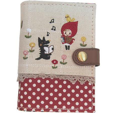【波克貓哈日網】拼繡童話系列◇卡片證件夾◇《小紅帽與大野狼》
