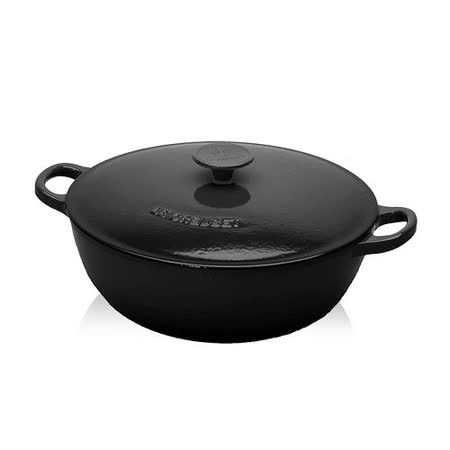 LE CREUSET 媽咪鐵鍋 32cm (沉靜黑)