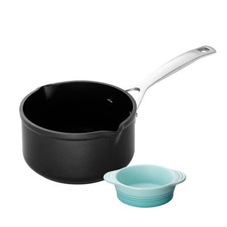 LE CREUSET TNS 單柄牛奶鍋16cm + 瓷器嬰兒湯碗