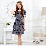 艾之田LOVE FIELD-甜美復古印花洋裝