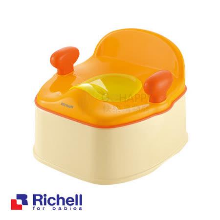 Richell日本利其爾 Pottis椅子型三階段訓練便器-橙色