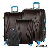 AOU微笑旅行 尊龍傳說 28吋24吋20吋 超大容量防刮超輕量行李箱 90-015ABC+AOKANA奧卡納 輕量護脊防潑水後背包 68-036