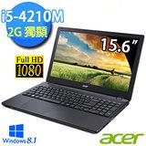 Acer E5-572G-549D 15.6吋 i5-4210M雙核心 FHD螢幕 Win8.1 獨顯效能筆電 (黑)