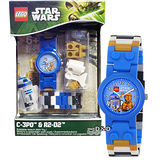 【樂高積木 LEGO】兒童手錶-星際大戰C3PO + R2D2