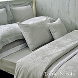 Tonia Nicole芮格爾古典緹花4件式被套床包組-灰色(特大)