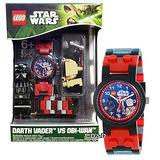 【樂高積木 LEGO】兒童手錶-星際大戰黑武士+歐比王