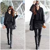 Kate❤Classic 時尚鉚釘燙鑽包臀顯瘦假兩件裙褲(LB00072)