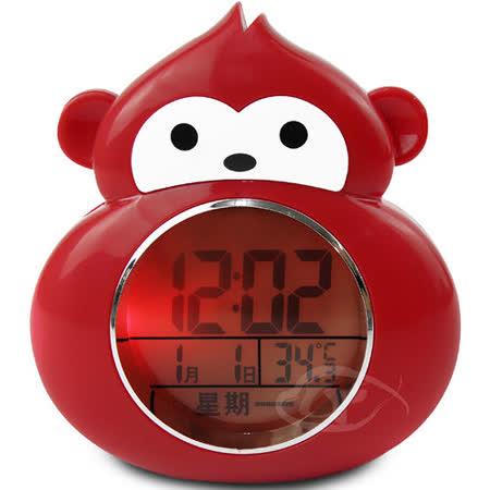 【CATIGA】動物樂園-LED背光夜燈語音鬧鐘-小獼猴