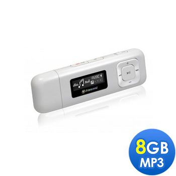 Transcend 創見 MP330 MP3隨身聽 8GB 白色