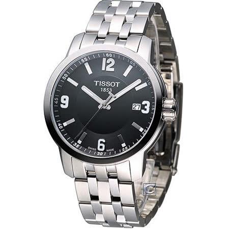 TISSOT 天梭 PRC-200 200防水時尚紳士錶 T0554101105700