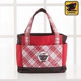 【UNME】英格蘭格紋餐袋 束口便當袋(紅色3119)