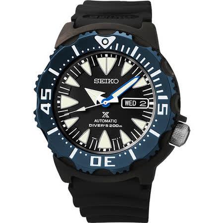 SEIKO Prospex 海龍潛水200米機械腕錶-黑 4R36-01J0B