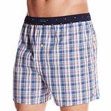 【Tommy Hilfiger】2014男時尚穩重藍色系格子平口內著【預購】