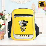 【UNME】中高年級 帥氣LOGO機器人護脊書包(黃色3233)