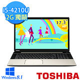 TOSHIBA L70-B-00R00M 17.3吋 i5-4210U 2G獨顯 大視野大容量筆電(香檳金)【贈原廠滑鼠】