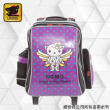 【UNME】 台灣製兒童拉桿書包(亮面點點紫3308D)