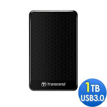Transcend 創見 A3 USB3.0 2.5吋行動硬碟 1TB 黑色-蜂窩款