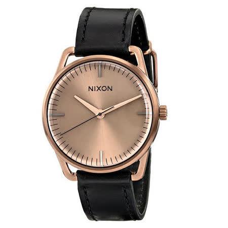 NIXON The MELLOR 純粹元素休閒都會腕錶-古銅x黑