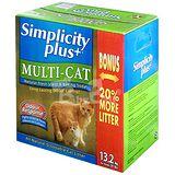 【Simplicity Plus+】喜樂加強版凝結貓砂 (13.2kg / 1箱 / 多貓家庭專用)
