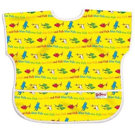 美國Bumkins防水兒童圍兜(短袖)- 小魚 BKU-F01