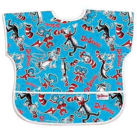美國Bumkins防水兒童圍兜(短袖)- 帽子貓 BKU-C01