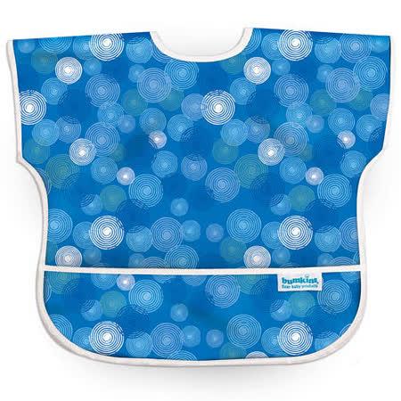 美國Bumkins防水兒童圍兜(短袖)- 藍波紋 BKU-530