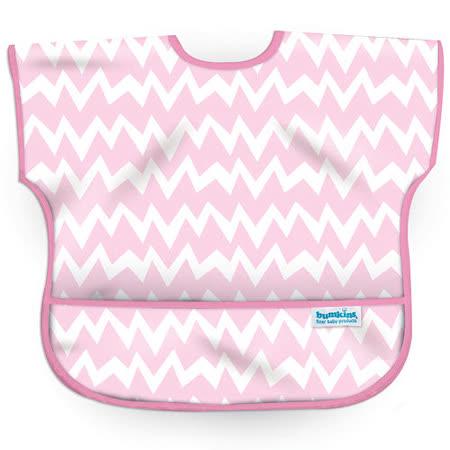美國Bumkins防水兒童圍兜(短袖)- 粉鋸齒 BKU-500