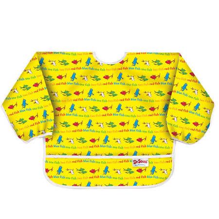 美國Bumkins防水幼童圍兜(長袖)-小魚 BKSU-F01