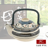 【日本長谷園伊賀燒】日式條紋款小陶壺