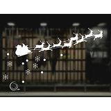 Christine 聖誕節慶佈置牆貼/玻璃貼(MA003白)