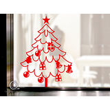 Christine 聖誕節慶佈置牆貼/玻璃貼(MA005紅)