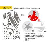 Christine 聖誕節慶佈置牆貼/玻璃貼(MA006銀)