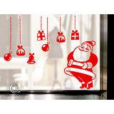 Christine 聖誕節慶佈置牆貼/玻璃貼(MA008紅)