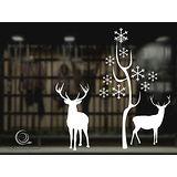 Christine 聖誕節慶佈置牆貼/玻璃貼(MA009白)