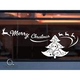 Christine 聖誕節慶佈置牆貼/玻璃貼(MA012白)