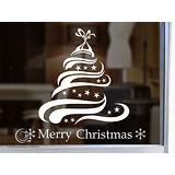 Christine 聖誕節慶佈置牆貼/玻璃貼(MA013白)
