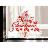 Christine 聖誕節慶佈置牆貼/玻璃貼(MA014紅)