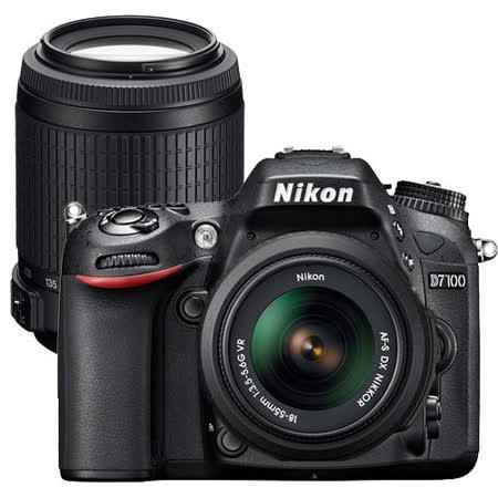 Nikon D7100+18-55mm+55-200mm 雙鏡組(中文平輸) - 加送SD64GC10+專用鋰電池+單眼相機包+抗UV保護鏡*2+拭鏡筆+相機清潔組+高透光保護貼