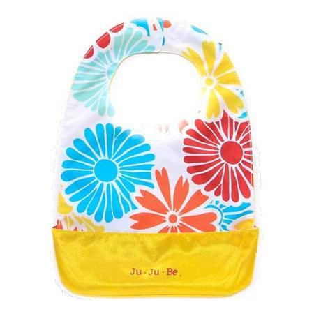 【美國JuJuBe媽咪包】BeNeat 雙面防潑水嬰兒圍兜-Flower Power 春神的花籃