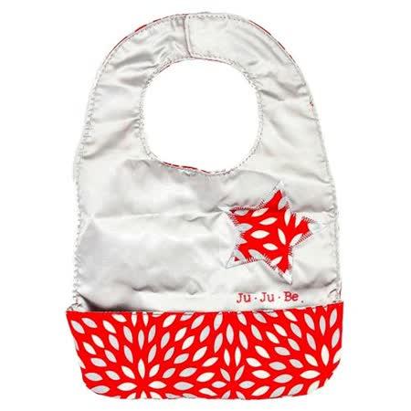 【美國JuJuBe媽咪包】BeNeat 雙面防潑水嬰兒圍兜-Scarlet Petals 緋紅花瓣