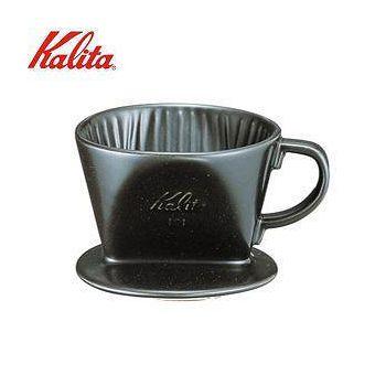 摩品手作咖啡館 Kalita 101陶瓷濾杯 黑色 1~2人分